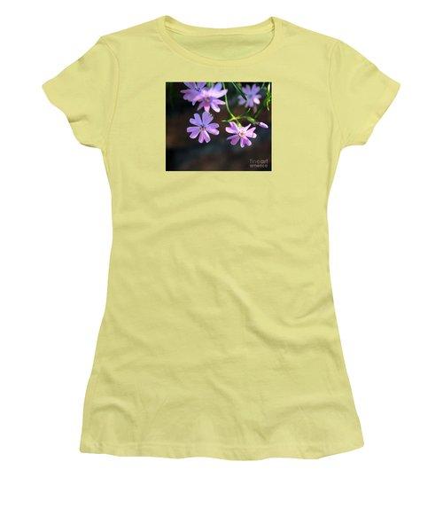 Tiny Pink Flowers Women's T-Shirt (Junior Cut) by John S
