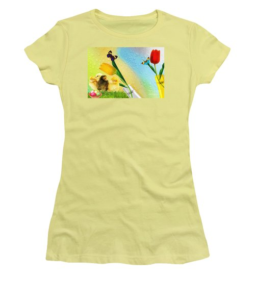 Tiptoe Through The Tulips Women's T-Shirt (Athletic Fit)