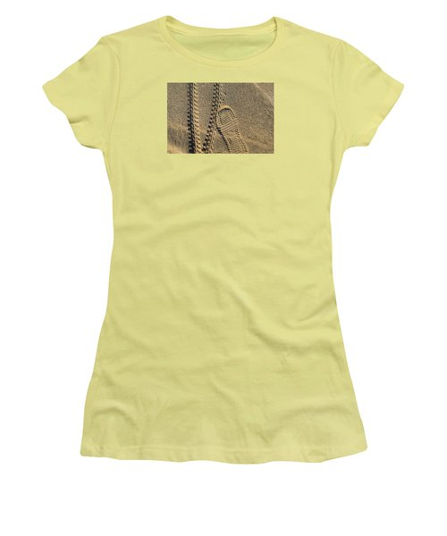 Tire And Sneaker Tracks Women's T-Shirt (Junior Cut) by Lyle Crump