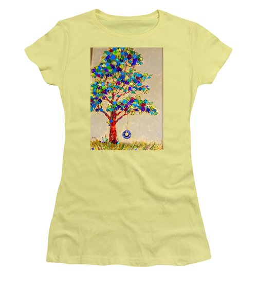 Tired Tree Women's T-Shirt (Athletic Fit)