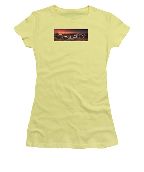 Women's T-Shirt (Junior Cut) featuring the photograph To Sea's Unknown by John Chivers