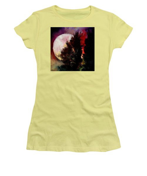 To The Moon And Back Women's T-Shirt (Junior Cut) by Michele Carter