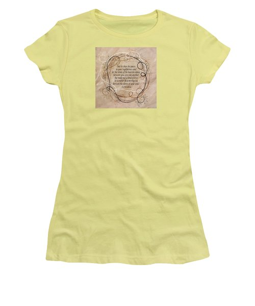 Women's T-Shirt (Junior Cut) featuring the digital art Togetherness by Angelina Vick