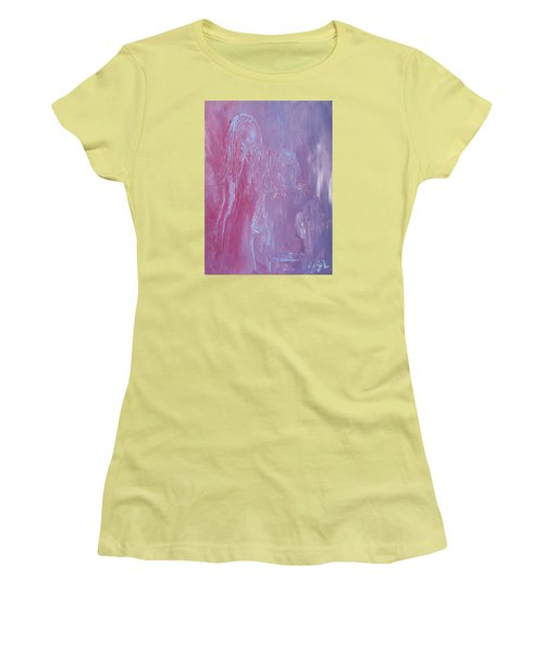 Women's T-Shirt (Junior Cut) featuring the painting Togetherness by Jane See