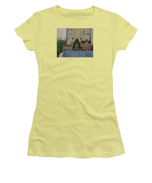 Too Wet To Paint Outdoors  Women's T-Shirt (Athletic Fit)