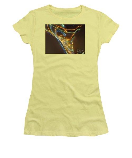 Women's T-Shirt (Junior Cut) featuring the photograph Tornado Of Lights. Dancing Lights Series by Ausra Huntington nee Paulauskaite