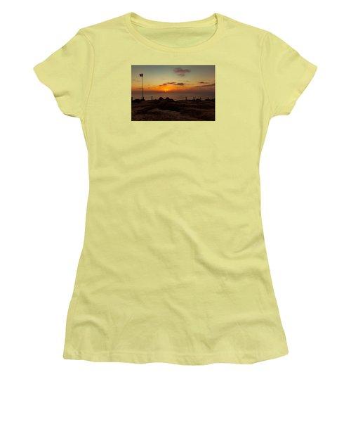 Torrey Pine Glider Port Sunset Women's T-Shirt (Junior Cut) by Jeremy McKay