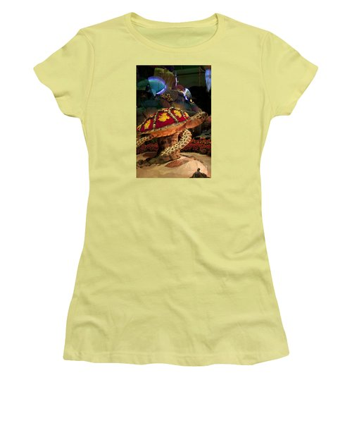 Tortoise In The Garden Women's T-Shirt (Athletic Fit)