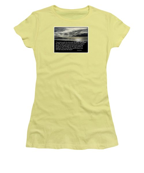 Touch The Earth Women's T-Shirt (Athletic Fit)