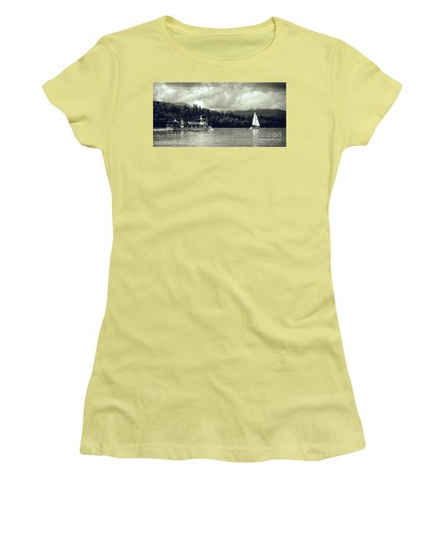 Touring The Lakes In Sepia Women's T-Shirt (Athletic Fit)