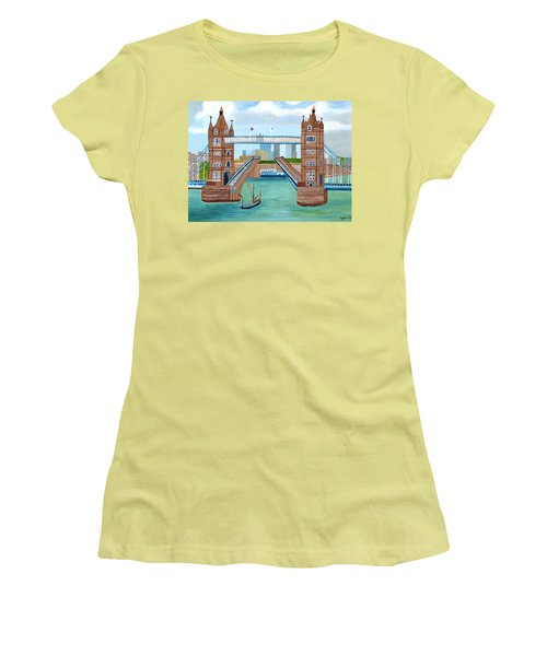 Tower Bridge London Women's T-Shirt (Junior Cut) by Magdalena Frohnsdorff