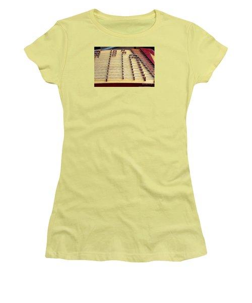 Traditional Chinese Instrument Women's T-Shirt (Junior Cut) by Yali Shi