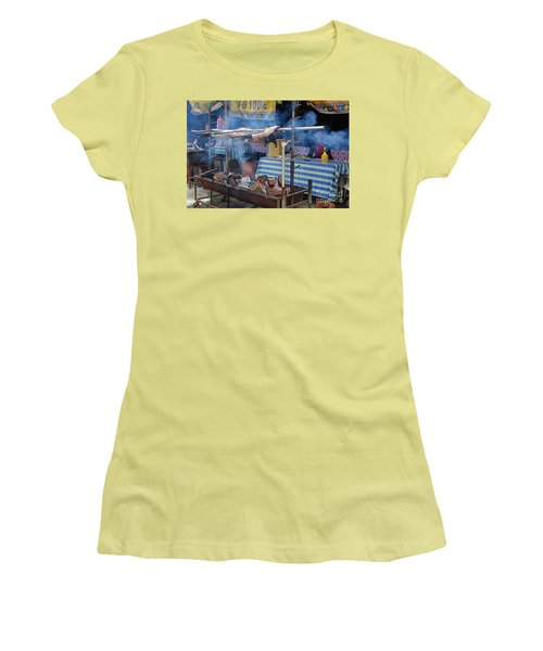 Women's T-Shirt (Junior Cut) featuring the photograph Traditional Market In Taiwan Native Village by Yali Shi