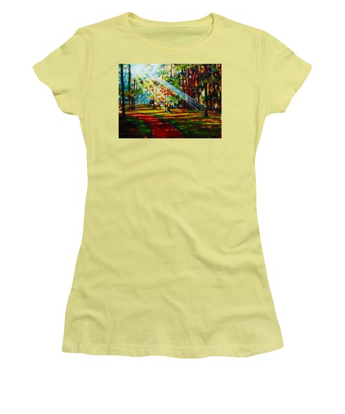 Trails Of Light Women's T-Shirt (Athletic Fit)