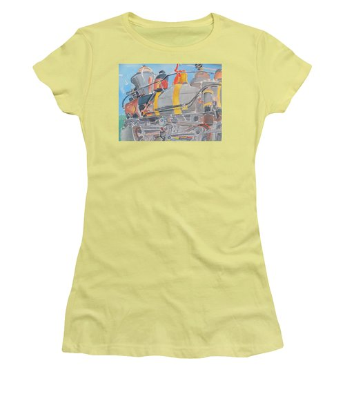 Train Engine Women's T-Shirt (Junior Cut) by Rodger Ellingson