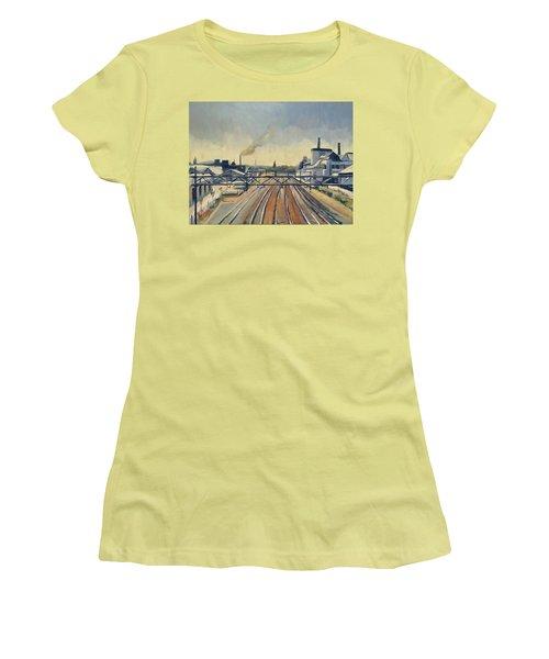 Train Tracks Maastricht Women's T-Shirt (Athletic Fit)