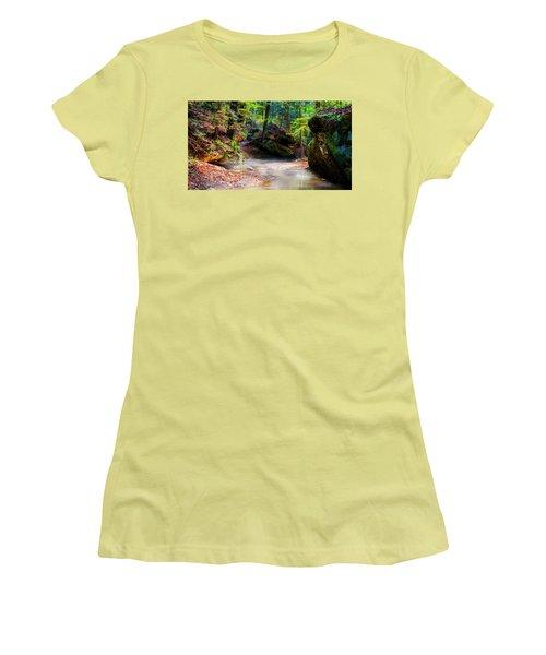Women's T-Shirt (Junior Cut) featuring the photograph Tranquil Mist by David Morefield