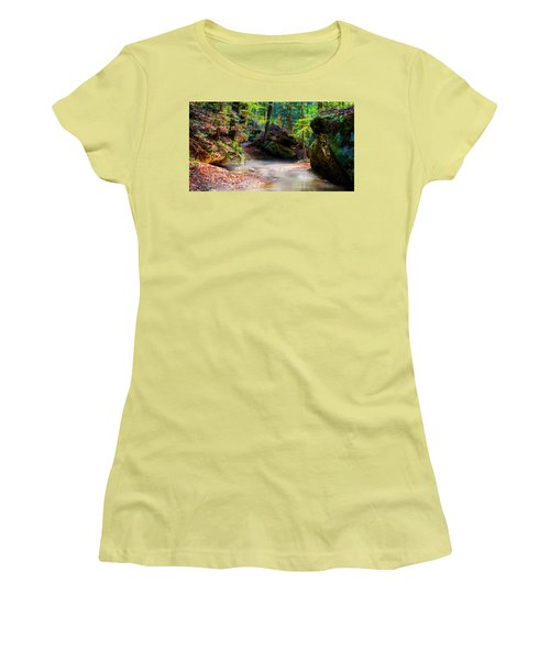 Women's T-Shirt (Athletic Fit) featuring the photograph Tranquil Mist by David Morefield