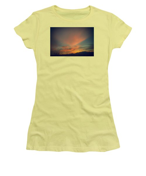 Tranquil Sunset Women's T-Shirt (Junior Cut) by Barbara Manis