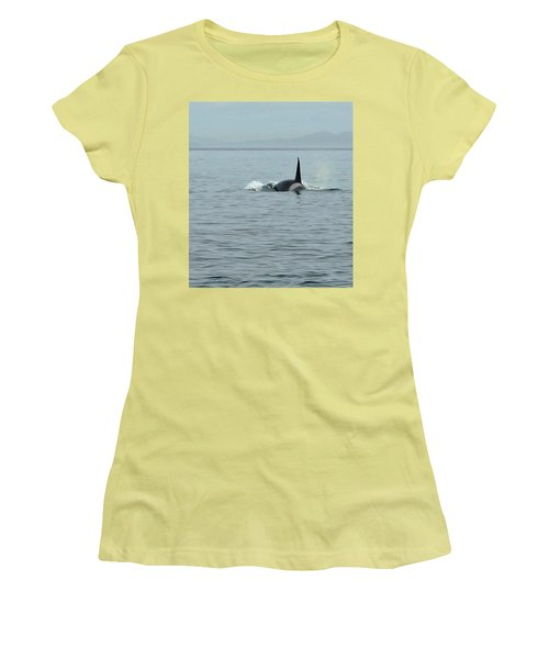 Transient Killer Whale Women's T-Shirt (Junior Cut) by Brian Chase
