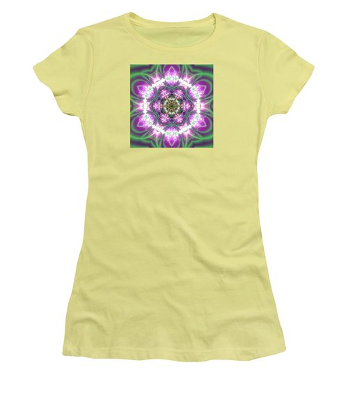 Transition Flower 6 Beats 3 Women's T-Shirt (Junior Cut) by Robert Thalmeier