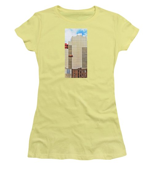 Women's T-Shirt (Junior Cut) featuring the photograph Transition From Old To New In New York by Gary Slawsky