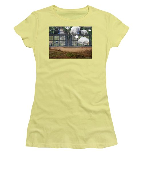 Travels With Jellyfish Women's T-Shirt (Junior Cut) by Joan Ladendorf