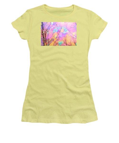 Women's T-Shirt (Junior Cut) featuring the photograph Tree Dance by Kathy Bassett