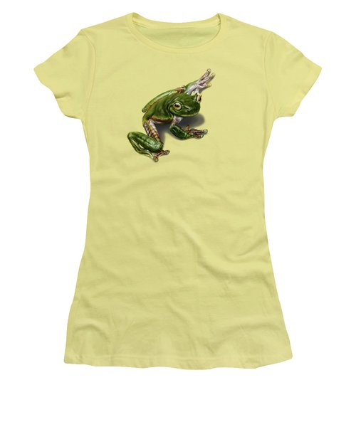 Tree Frog  Women's T-Shirt (Junior Cut) by Owen Bell