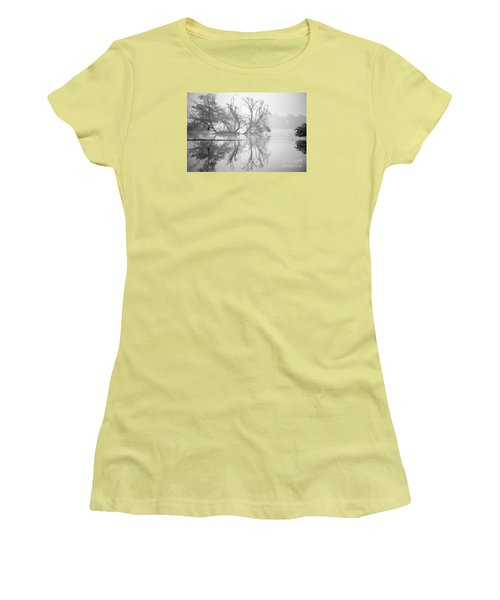 Tree In A Lake Women's T-Shirt (Junior Cut) by Pravine Chester