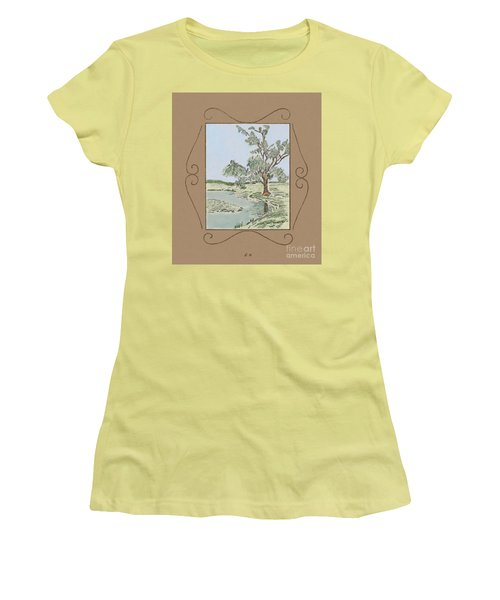 Tree Mirror In Lake Women's T-Shirt (Athletic Fit)