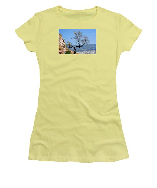 Women's T-Shirt (Junior Cut) featuring the photograph Tree On Acropolis Hill by Robert Moss