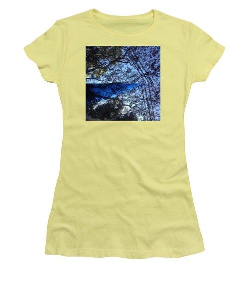 Tree Symphony Women's T-Shirt (Junior Cut) by Nora Boghossian