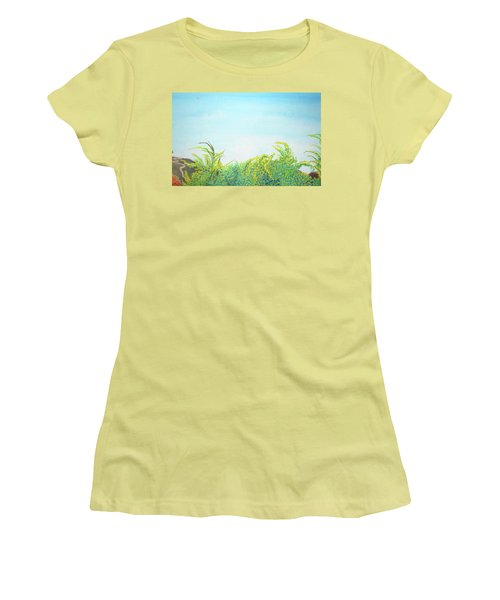 Tree Tops Women's T-Shirt (Junior Cut) by Mary Ellen Frazee