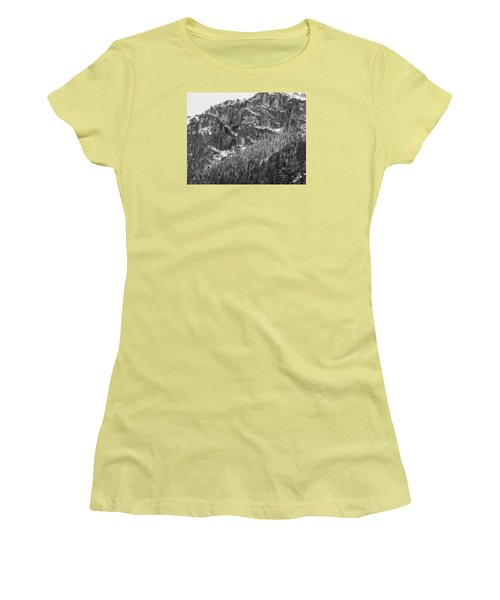 Women's T-Shirt (Junior Cut) featuring the photograph Treefall by Lora Lee Chapman