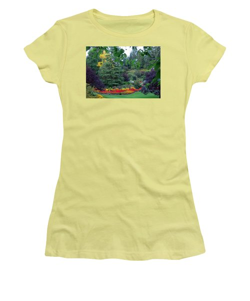 Trees And Flowers Women's T-Shirt (Junior Cut) by Betty Buller Whitehead