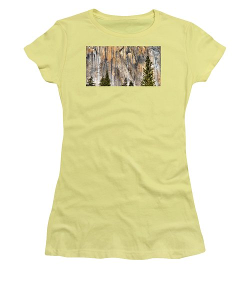 Trees And Granite Women's T-Shirt (Junior Cut) by Josephine Buschman