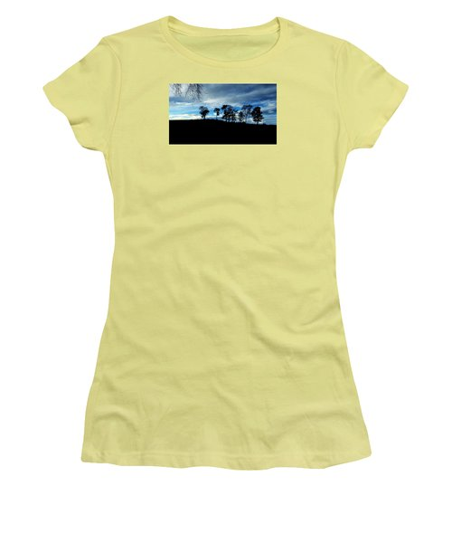 Trees Women's T-Shirt (Junior Cut) by RKAB Works