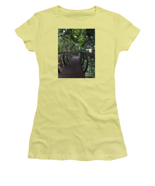 Treetop Canopy Walk Women's T-Shirt (Junior Cut) by Bev Conover