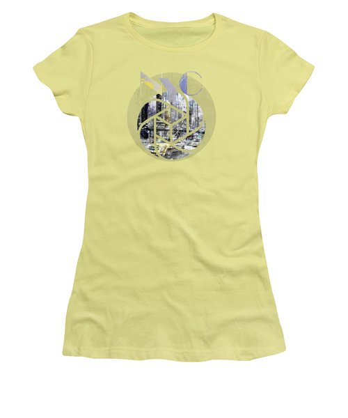 Trendy Design New York City Geometric Mix No 4 Women's T-Shirt (Junior Cut) by Melanie Viola