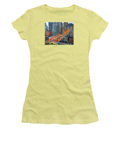 Tri Mountain Sculpture 002 Women's T-Shirt (Athletic Fit)
