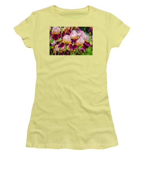 Tricolored Irisses Women's T-Shirt (Athletic Fit)