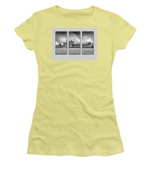 Trim Castle Triptych  Women's T-Shirt (Athletic Fit)