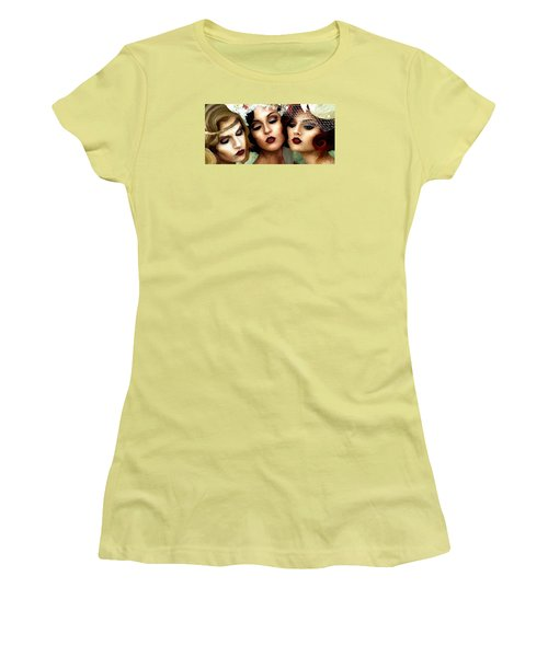 Trio Of Ladies Women's T-Shirt (Athletic Fit)