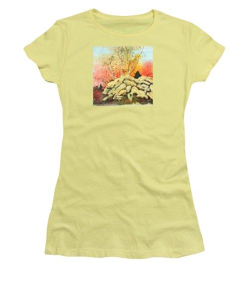Triptych Panel 2 Women's T-Shirt (Athletic Fit)