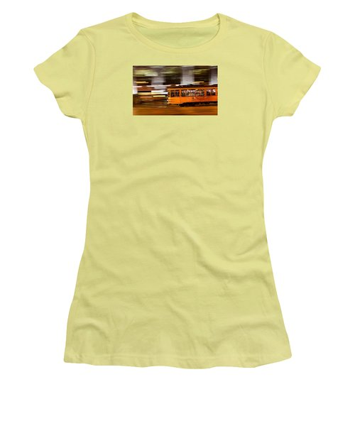 Women's T-Shirt (Junior Cut) featuring the photograph Trolley 1856 On The Move by Steve Siri