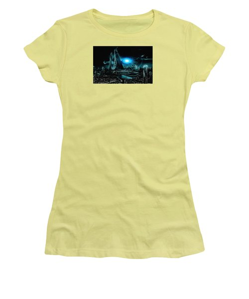Tron Revisited Women's T-Shirt (Athletic Fit)