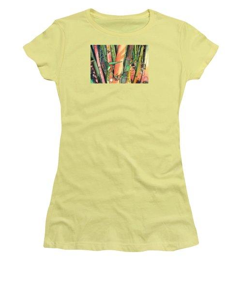 Tropical Bamboo Women's T-Shirt (Junior Cut) by Marionette Taboniar