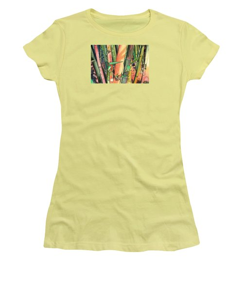 Tropical Bamboo Women's T-Shirt (Athletic Fit)
