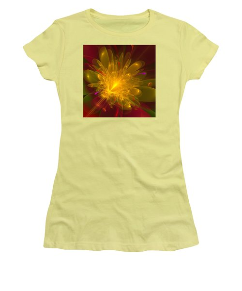 Tropical Flower Women's T-Shirt (Athletic Fit)